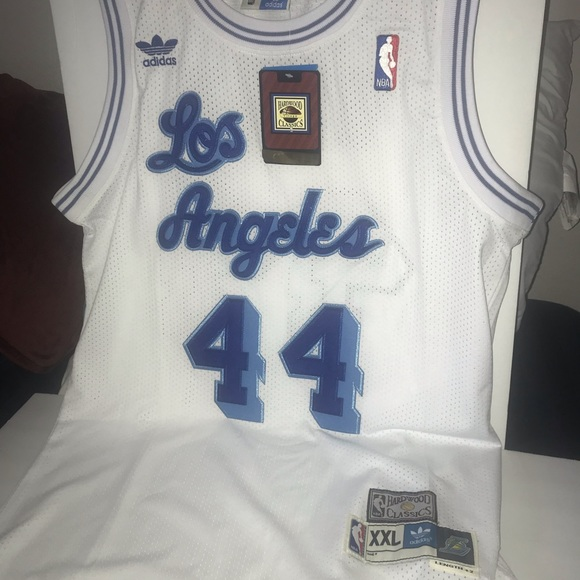 new concept 8f023 50b15 Vintage Los Angeles Lakers Jerry West Jersey NWT